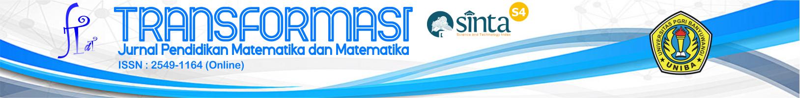 Transformasi : Jurnal Pendidikan Matematika dan Matematika